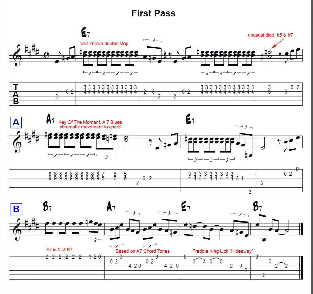 Guitar picking lesson karl aranjo once again chord tones and tensions are leaned on heavily to challenge and develop the ear bar 4 uses some chromatically ascending 9th chords as an homage hexwebz Choice Image